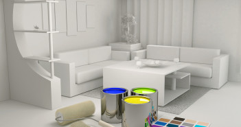Farba na tapecie