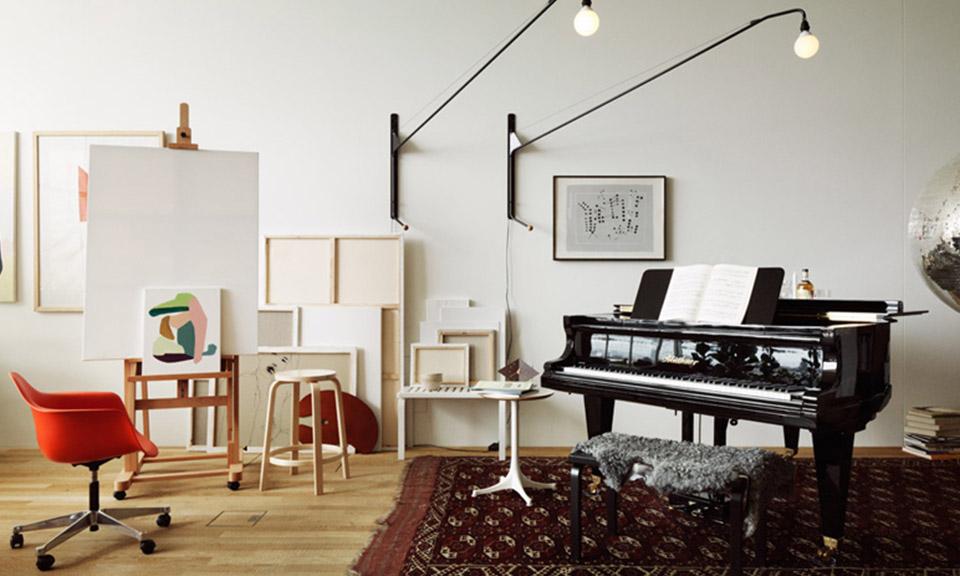 Tradycyjny salon z nowoczesnymi akcentami
