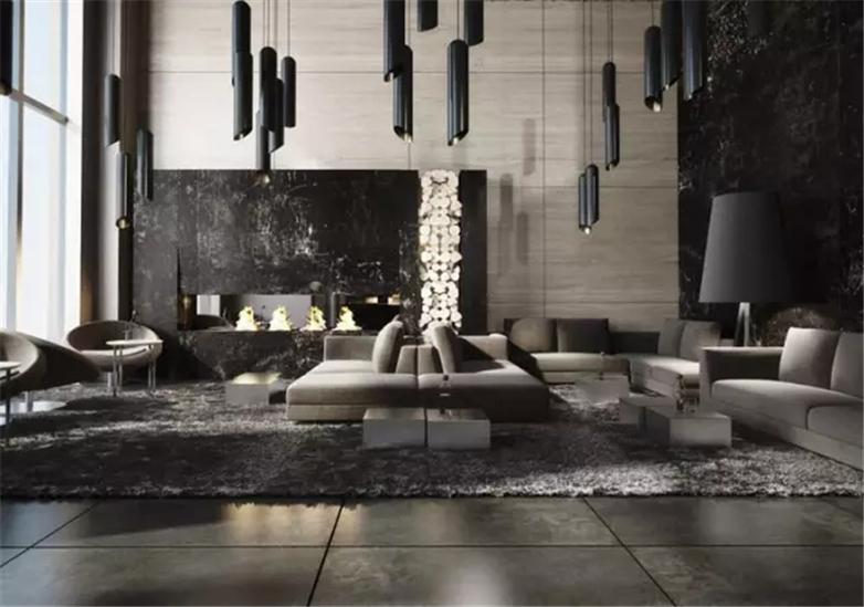 Nowoczesne oświetlenie w minimalistycznym salonie