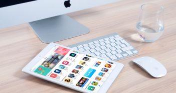 Tablet z aplikacjami