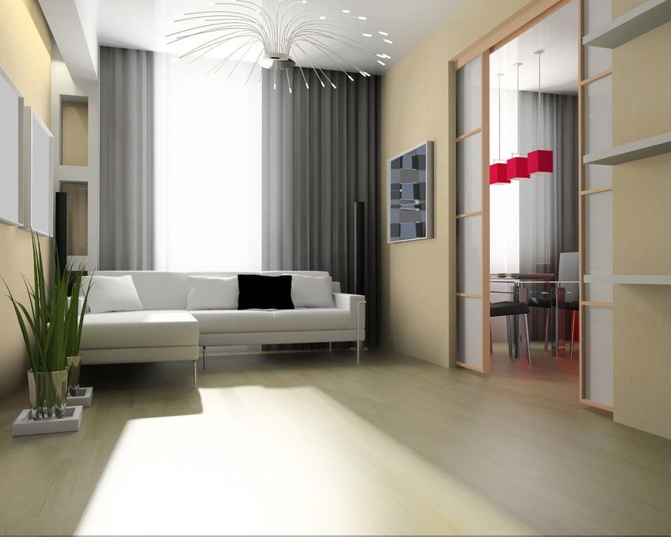 Salon w minimalistycznym stylu