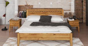 Łóżko drewniane Odys