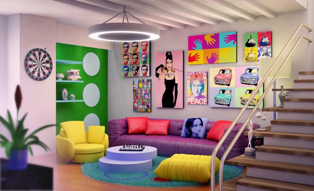 Pop-art we wnętrzach