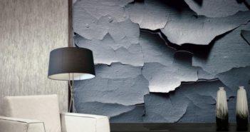 Okładzina na ścianę imitująca efektowne pęknięcia