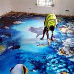 Hit do wnętrz! Podłoga 3D z żywicy epoksydowej  – WADY I ZALETY