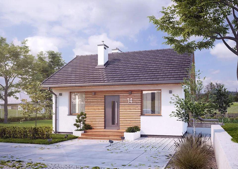 Projekt domu Imbir 4 jest elegancki i tani w budowie