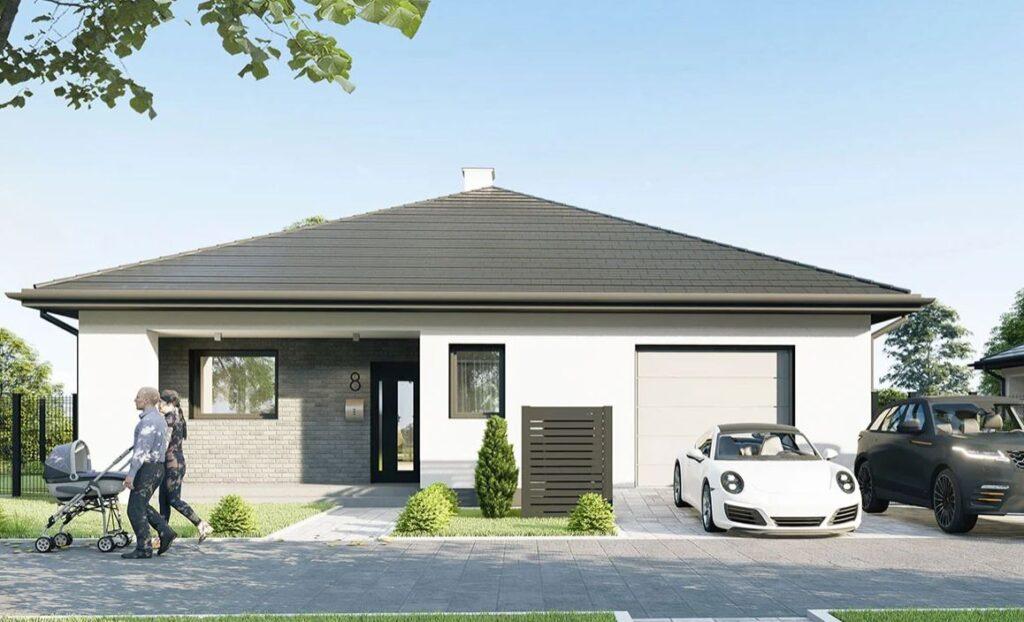 Dom z kopertowym dachem