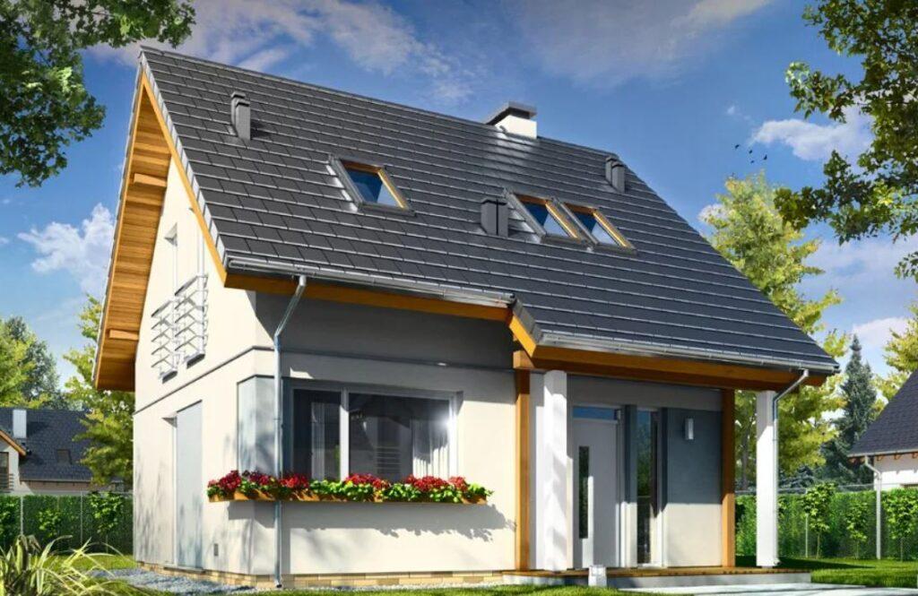 Projekt o powierzchni 61,69 m²