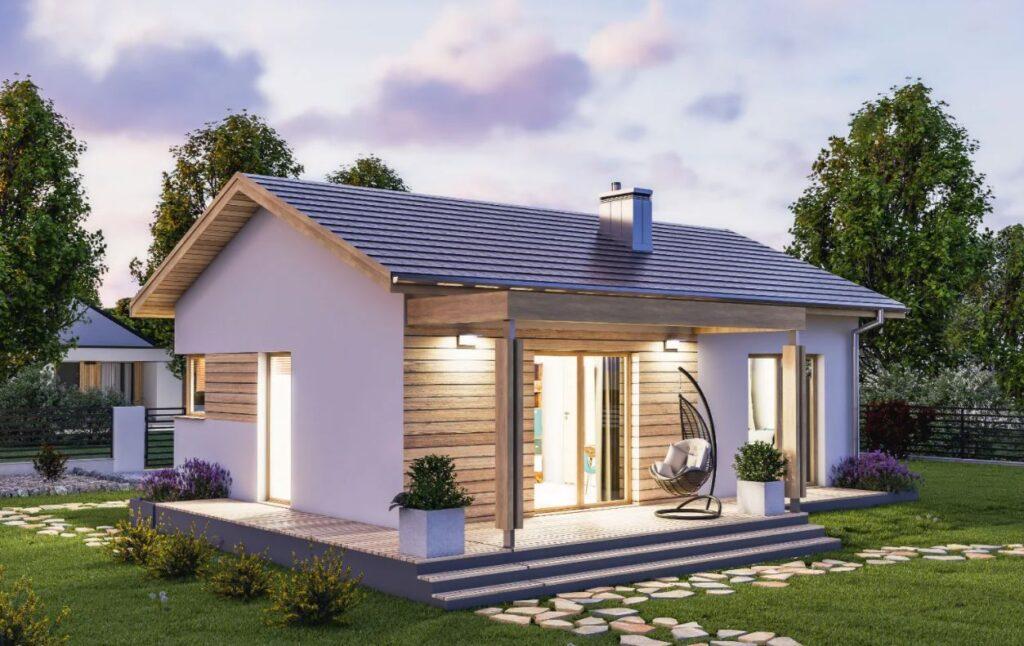 Minimalistyczny projekt domu D237